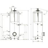 Dražice NADO v1 500/200 теплоаккумулятор с бойлером 210 л