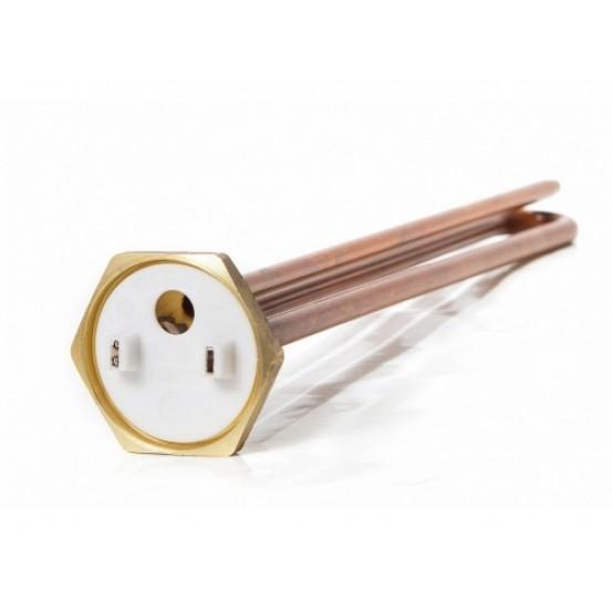 ТЭН 2,0 кВт для бойлера, гайка, медь, прямой, под анод М6
