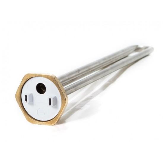 ТЭН 1,5 кВт для бойлера, гайка, нерж., прямой, под анод М6