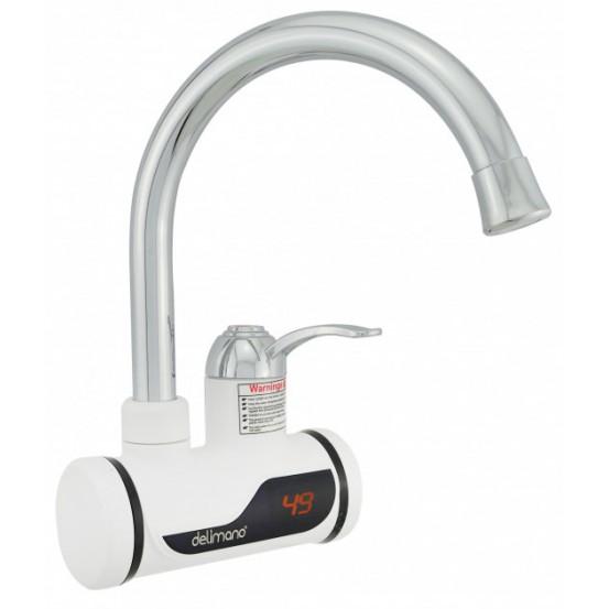 Кран водонагреватель Delimano WJ7 с дисплеем (боковое подключение)