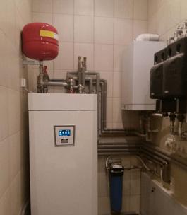 Буферная емкость воздушного теплонасоса с блоком управления