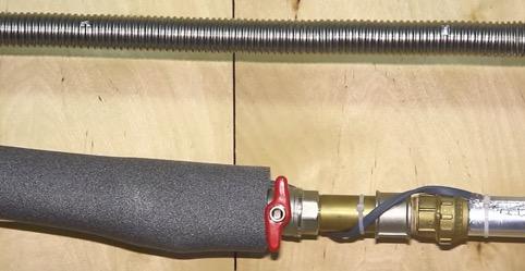 Утепление труб отопления терморезистивным кабелем и утеплителем из поролона