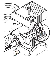 Подвод кабеля к коробке клеммника с двух сторон