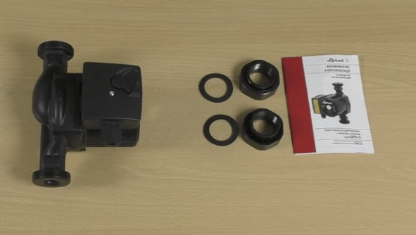 Комплектация поставки циркуляционного насоса Sprut GPD-25-4S