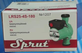 Комплектация поставки циркуляционного насоса Sprut LRS-25-4S 180