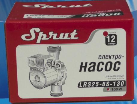 Комплектация поставки циркуляционного насоса Sprut LRS-25-6S 130