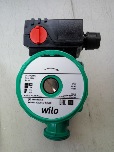 Конструкция циркуляционного насоса Wilo Star-RS30/6