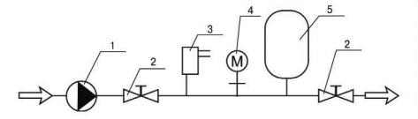 Монтажная схема гидроаккумулятора