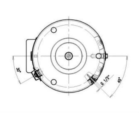 Габариты и выходы на подключения бойлера косвенного нагрева Drazice OKC NTR/BP-01