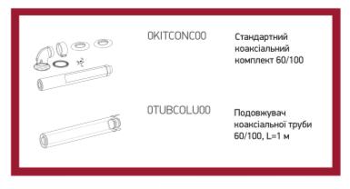 Коаксиальная труба для котла газового RÖDA Eco Duo CS 24