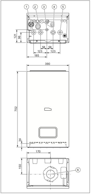 Устройство и подключения Protherm Lynx Condens 18/25 MKV