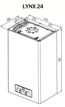Устройство и подключения Protherm Рысь Lynx 24