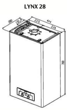 Устройство и подключения Protherm Рысь Lynx 28