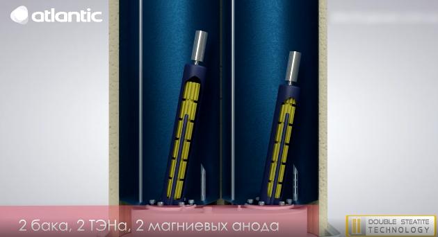 Два раздельных бака бойлера Vertigo Steatite Essential 30 MP-025 2F