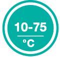 Регулировка температуры от 10 до 75°С рис.