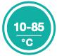 Регулировка температуры от 10 до 85°С рис.