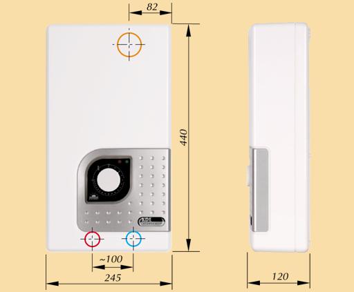 Габаритные размеры водонагревателя Kospel Bonus KDE