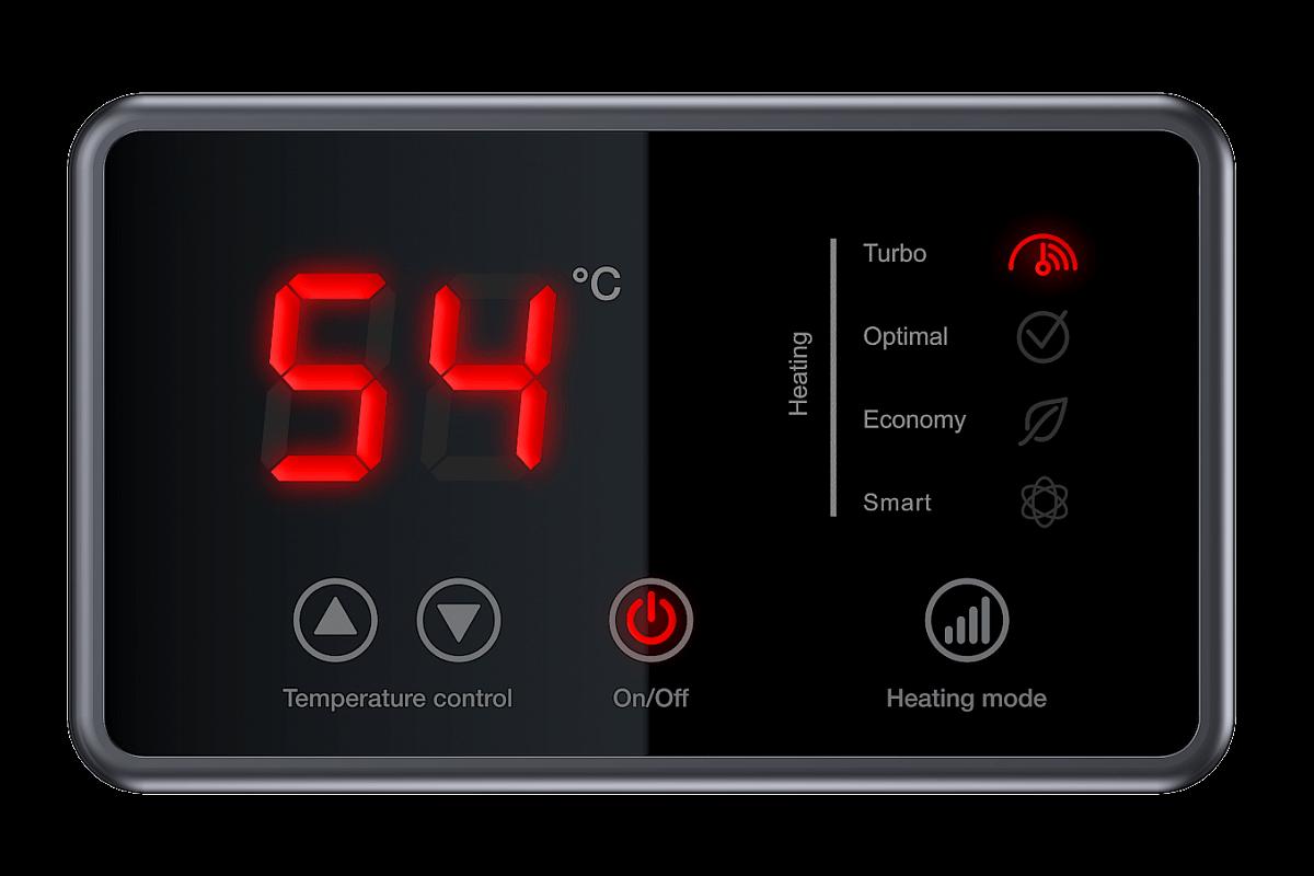 Электронный дисплей бойлера Thermex ID Smart рис. 1