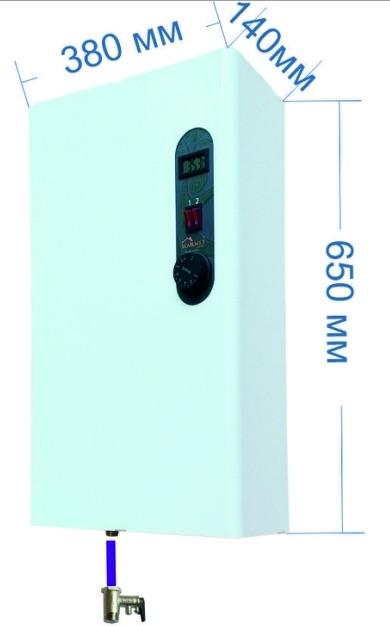 Габаритные размеры проточного водонагревателя Warmly SWPS рис.